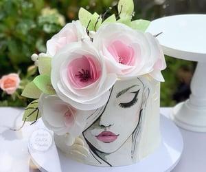 art, cake, and drawing image