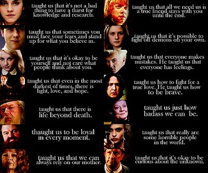 characters, harry potter, and it taught us image