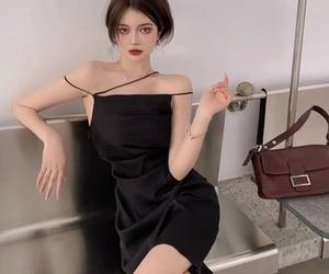 aesthetic, black dress, and fashion image