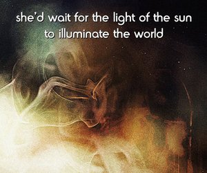 girl, quotes, and sun image