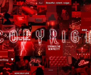 aesthetic, color red, and moodboard image