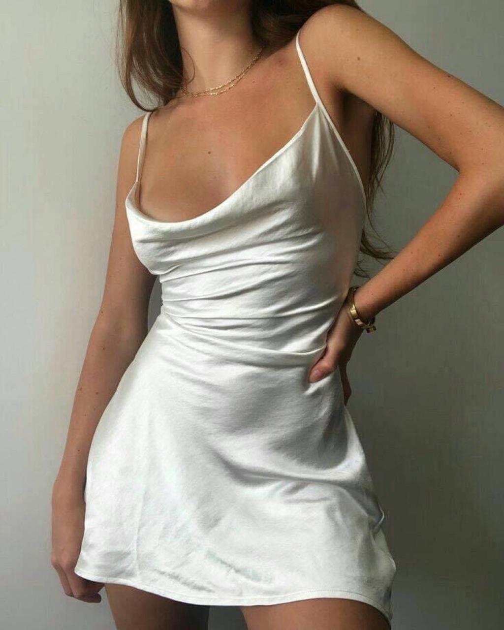 dress, white, and mini image