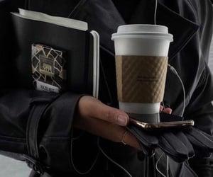 black, fashion, and coffee image