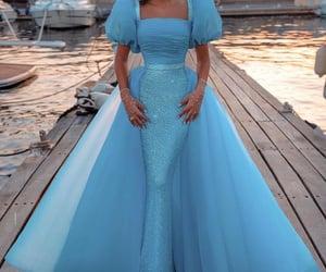 women fashion, blue prom dress, and prom dresses 2021 image