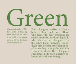 color, text, and green image