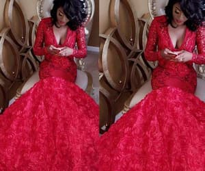 red evening dress, sparkly evening dress, and formal dresses image