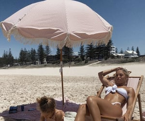 beach, daughter, and Hot image