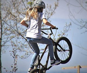 biker, bmx, and outdoor image