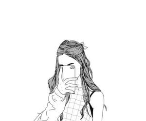 b&w, wallpaper, and girl image