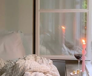 open windows, candle, and light image
