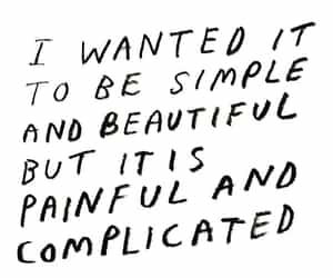 complicated, frase, and frases image