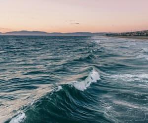sea, waves, and ocean image