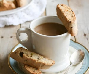 coffee, biscuits, and cafe image