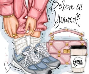 believe, chic, and coffee image