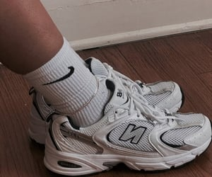 new balance, nike, and shoes image