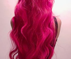 beautiful hair, long hair, and pink hair image
