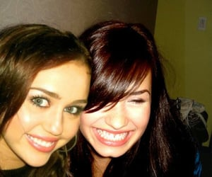 miley cyrus, demi lovato, and diley image
