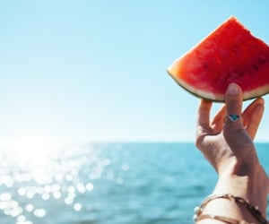 summers, sun, and watermelon image
