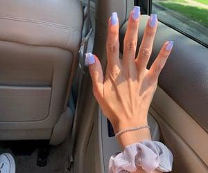 blue nail polish, girlie, and nail art image
