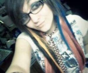 colored hair, scene hair, and scene kid image