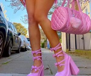 fashion, heels, and pink heels image