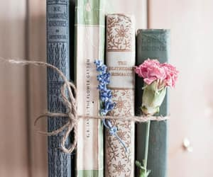 books, carnation, and bookstagram image