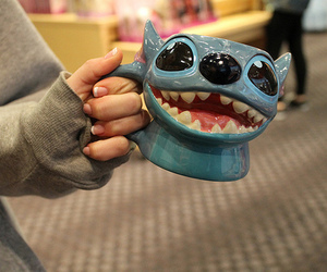 stitch, disney, and cup image