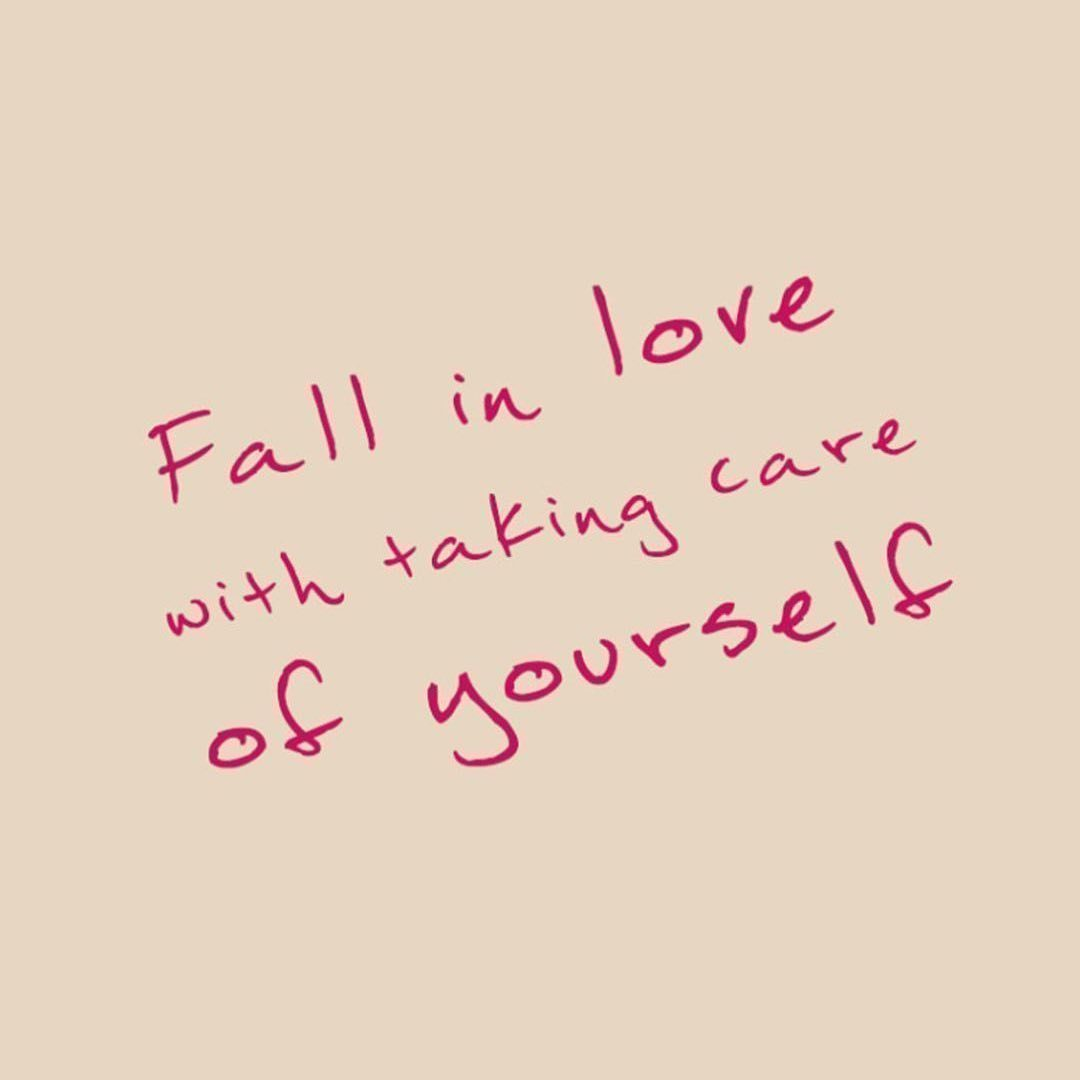 fall in love, mental health, and taking care of yourself image