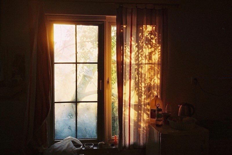 window, autumn, and light image