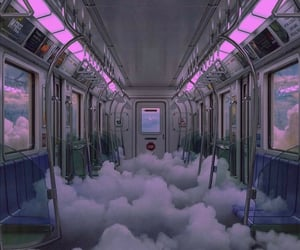 purple, clouds, and aesthetic image