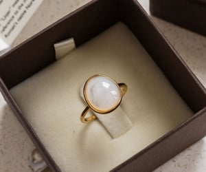 classic, minimalist, and gold ring image