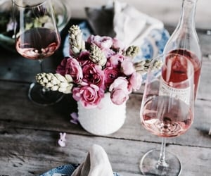 dinner party, flowers, and table image