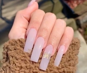 butterfly, clear, and nails image