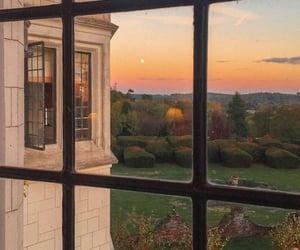 sunset, nature, and window image