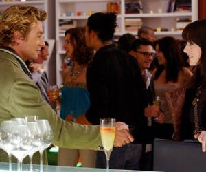 drink, Anne Hathaway, and simon baker image