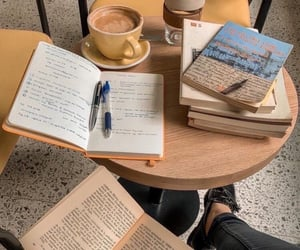 study, books, and cafe image