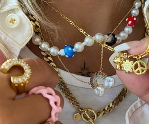 accessories, gold chains, and rings image