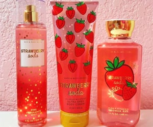 skincare, strawberry, and bath and body works image