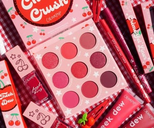 cherry, eyeshadow, and lipgloss image