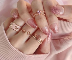 nails, pink, and soft image