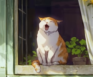 animals, art, and cat lovers image