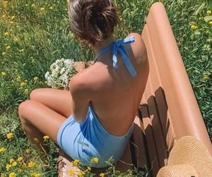 flowers, garden, and outfit image