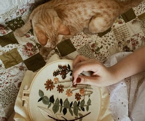 aesthetic, art, and cat image