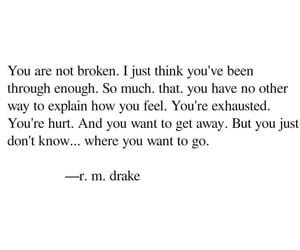 quotes, r.m drake, and sad image