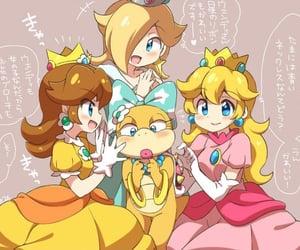 princess peach, super mario, and princess daisy image