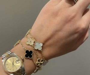 bracelet, van cleef & arpels, and rolex image