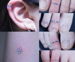 arcoiris, dedos, and colores image