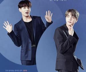 jin, j-hope, and v image