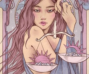 astrology, Libra, and pink image