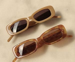 glasses, aesthetic, and brown image
